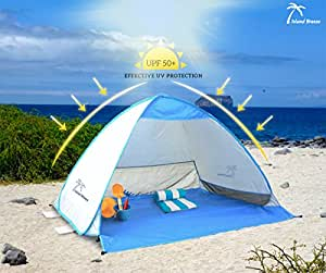 Large Outdoor Pop Up Beach Tent, Automatic Pop Up Tent For Kids, Portable UV Protection Sun Shelter Cabana, Picnic Tent, Fishing Tent, Hiking Tent