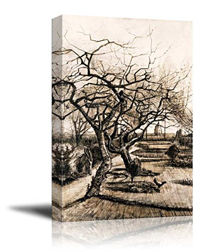 The Parsonage Garden at Nuenen in Winter by Vincent Van Gogh Print Famous Oil Painting Reproduction
