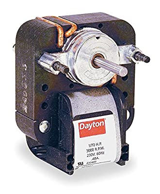 Dayton Electric 2-Speed C-Frame Fan Motor 1/70hp 3000RPM 115 Volts Model 4M075