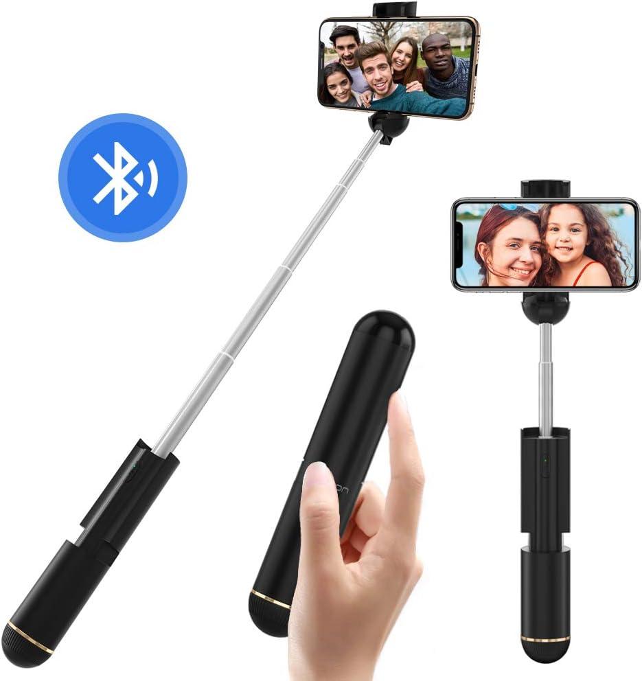 Yoozon Palo Selfie, Mini Selfie Stick Extensible Ultraligero con Control Remoto Bluetooth, Monopié Ajustable para teléfonos Inteligentes como iPhone, Samsung, Huawei, LG, etc