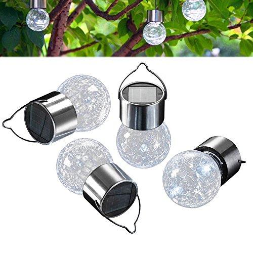 Outdoor Solar Garden Lights - White Color LED Solar Decorative Lights for Garden, Patio, Backyard