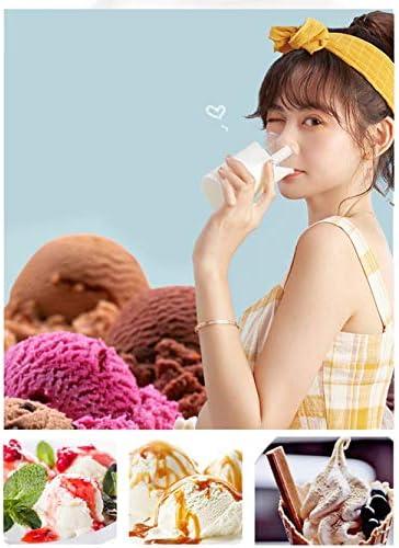 N / A - Macchina per gelato, gelato, gelato, gelato, gelato congelato, doppia capacità secchiello, funzionamento a pressione, completamente automatico, per la casa fai da te
