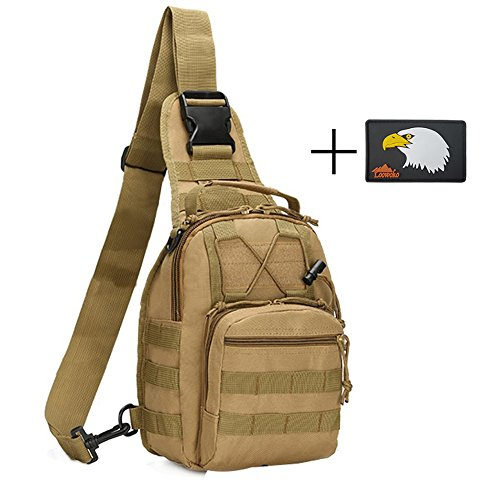 Outdoor Tactical Shoulder Backpack, Military Sport Pack Shoulder Sling Chest Daypack Utility for Camping Travel Hiking Trekking - Sunglasses 7 Degree