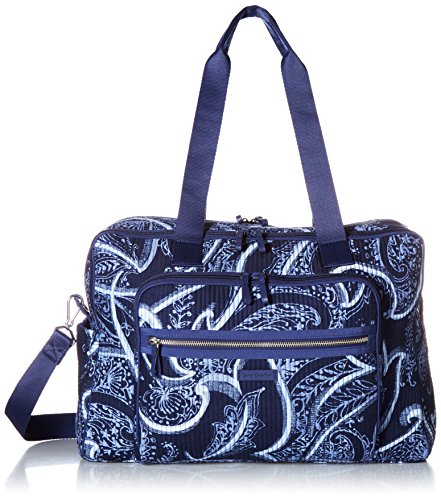 - Vera Bradley Iconic Deluxe Weekender Travel Bag, Signature Cotton, Indio, One Size
