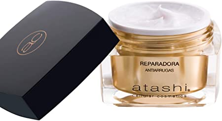 Atashi Antiedad - Crema Reparadora Antiarrugas   Reparación y Renovación   Corrige Arrugas Profundas   Efecto Botox Natural y Anti-Estrés   Ultra-hidratante   Con Retinol y Vitamina E - 50ml
