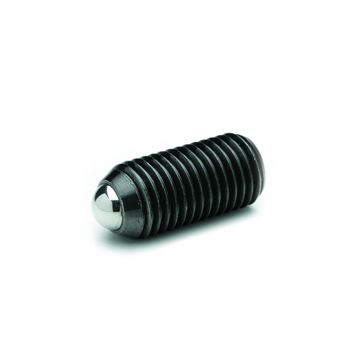 Ganter Standard Elements GN 615.3M24KS–Springy Pressure Piece Set Screws with Hex Socket, Black