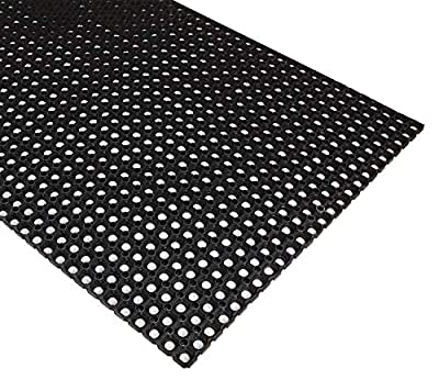 """Red Barn Heavy Duty Ring Mat Black Rubber, 39.5"""" x 59"""" x 7/8"""", Indoor/Outdoor Utility Mat, Anti-Fatigue, Non-Slip, Drainage"""