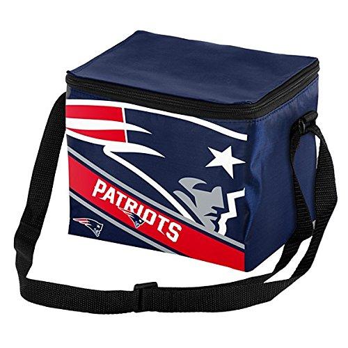 New England Patriots Big Logo Stripe 12 Pack Cooler