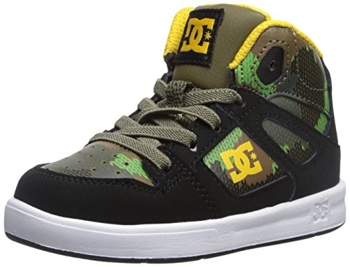 DC Rebound SE UL Skate Shoe (Toddler), Black Camouflage, 10 M US Toddler