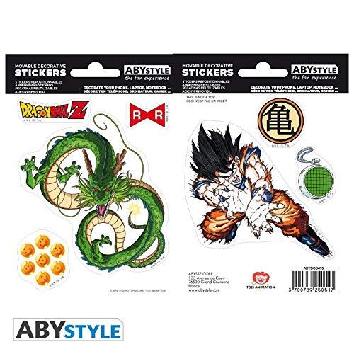 Stickers Dragon Ball. Goklu y Shenron Vistoenpantalla