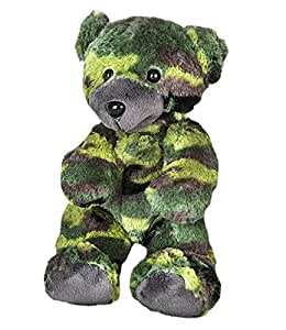 """8"""" Recordable Camoflauge Military Bear w/ 10 Second Recorder"""