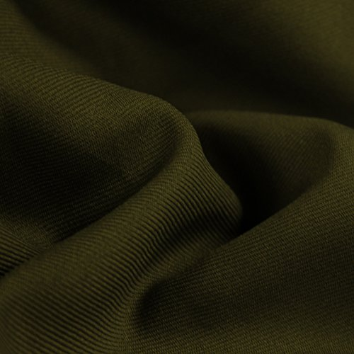 Olive Solid 60'' Poly Gabardine Fabric by the Yard for sale  Delivered anywhere in USA
