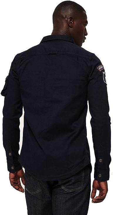 New Mens Superdry Rookie Loom Riveter Shirt Washed Denim