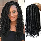 Flyteng Spring Twist hair 12 inches 6 packs black spring twists hairstyles crochet hair pre looped