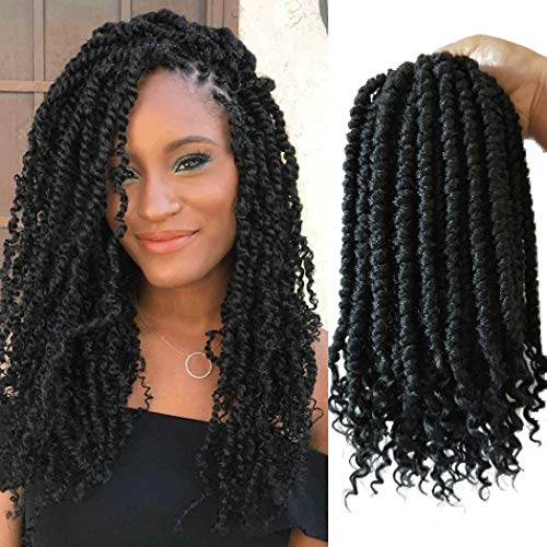 12inch 6packs Senegalese Spring Twist crochet hair curl end black Crochet braids Havana mambo braiding hair