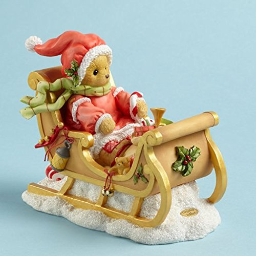 Cherished Teddies Sherwood Bear Delivering Presents in Sleigh Christmas Figurine