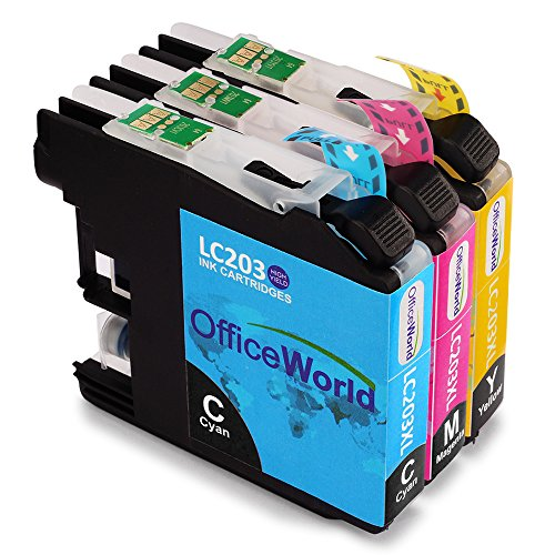 Office World Replacement for Brother LC203 Color Ink Cartridges,Compatible with Brother MFC-J480DW MFC-J4320DW MFC-J4420DW MFC-J4620DW MFC-J5520DW MFC-J5620DW MFC-J5720DW MFC-J885DW printer