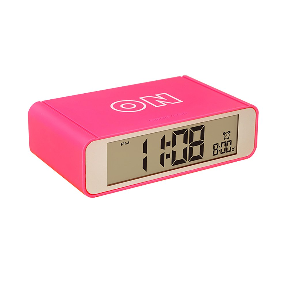 Flip Digital Alarm Clock Snooze Backlight Battery Powered Mini Travel Desk Clocks Kids Girls Boys Children Bedroom Office from Kaimao (Green)
