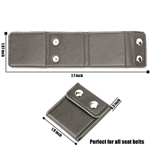 2 Pack Black Aikee Comfort Seat Belt Covers Seatbelt Adjuster Universal Auto Shoulder Neck Protector Strap Positioner Locking Clip for Adults//Kids
