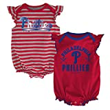 MLB  Philadelphia Phillies Infant Girls 2Pk Creeper-24 Months