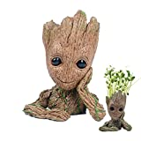 Fashion Guardians of The Galaxy Flowerpot Baby Groot Action Figures Cute Model Toy Pen Pot Best Christmas Gifts For Kids