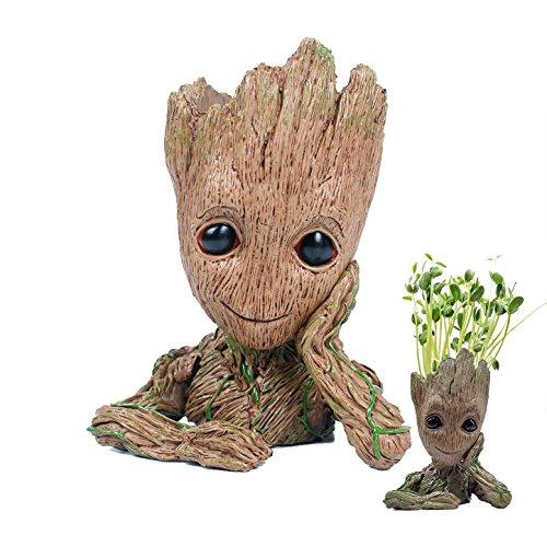 Moda Guardianes de la galaxia Groot Bebé cifras de acción de maceta lindo modelo para juguete, lapicero mejor regalos de...