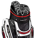 Founders Club Premium Golf Cart Bag with 14 Way Organizer Divider Top (White)