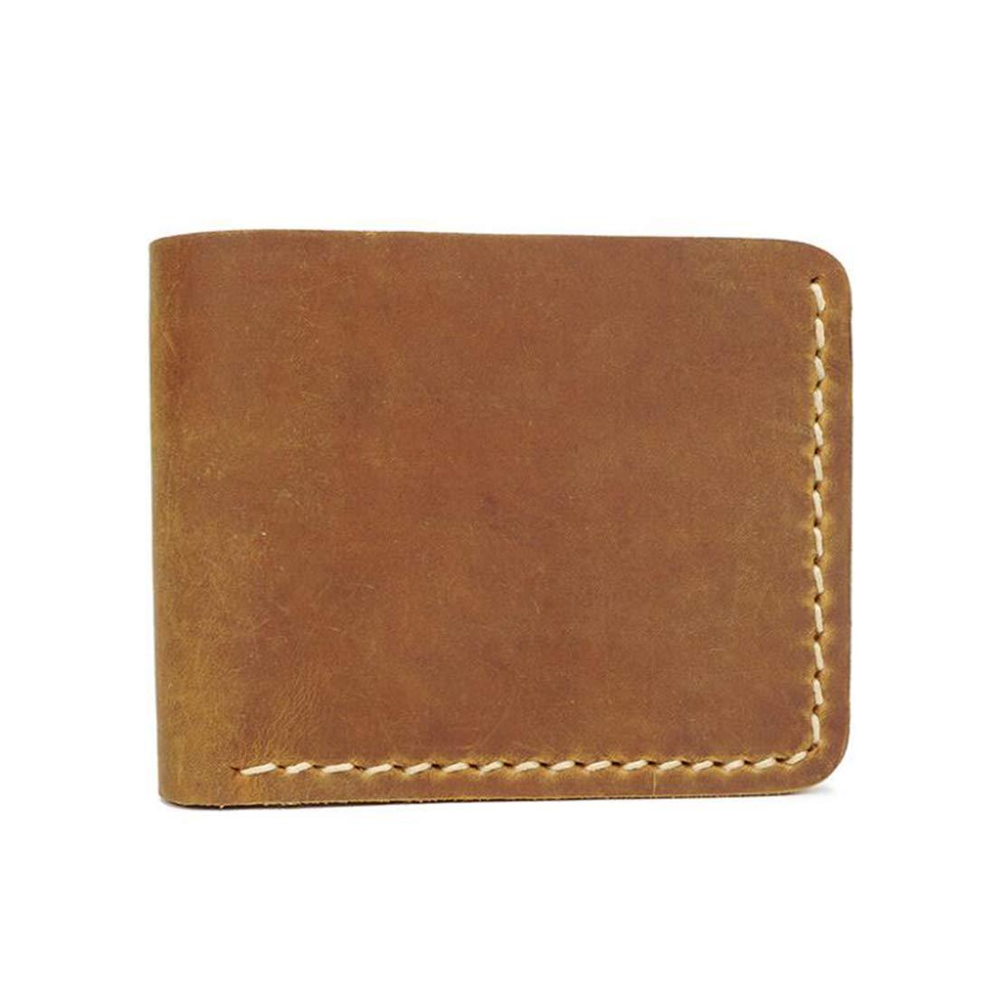 CEFULTY Mens Genuine Leather RFID Blocking Bifold ID Wallet Slim Credit Card Holder Minimalist Color : Brown1
