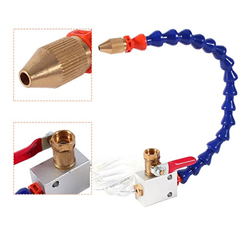 Tube + Valve Mist Coolant Lubrication Spray System For 8mm Air Pipe CNC Lathe Mill Drill Carving Machine,Blue by Walfront (Image #5)