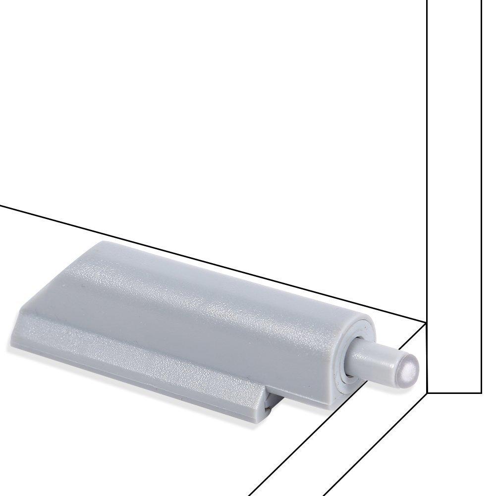 10Pcs ABS Porte-meuble Charni/ère Amortisseurs De Portes Armoires Tiroirs Ouvre-porte Syst/ème Astuce Plastique 7,5*2cm