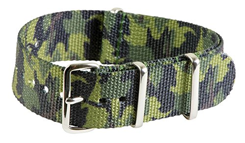 20mm Nato Ss Nylon Switzerland Camo Interchangeable Replacement Watch Strap Band