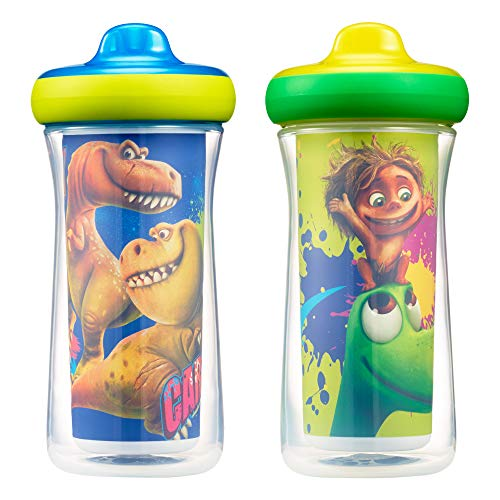 - The First Years Disney/Pixar The Good Dinosaur  Insulated Hard Spout Sippy Cups, 9 Ounce