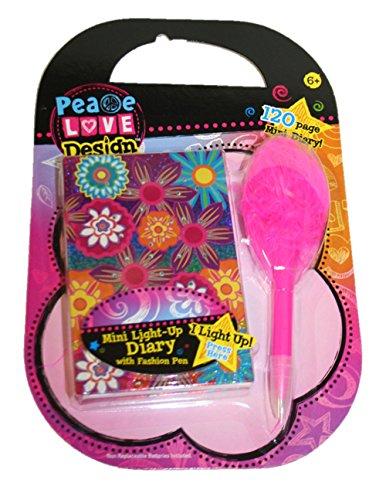 Mini Light up Diary & and Fashion Pen Set - Fashion Store Diaries