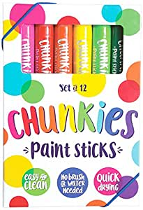 OOLY is now newly OOLY, Chunkies Paint Sticks, Set of 12 (126-004)