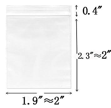 Amazon.com: 【Más grueso】 0.8 x 0.8 in, 100 bolsas pequeñas ...