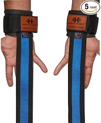 HAULIN HOOKS /'STRAPS 650/' Pull Rated Weight Lifting Straps