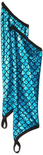 Mermaid Sleeves Metallic Halter Costume