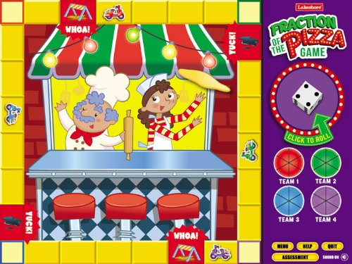 Fraction of the Pizza Interactive Math Game