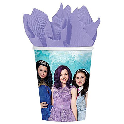 Disney Descendants Birthday Party Tableware Disposable 9oz Paper Cups
