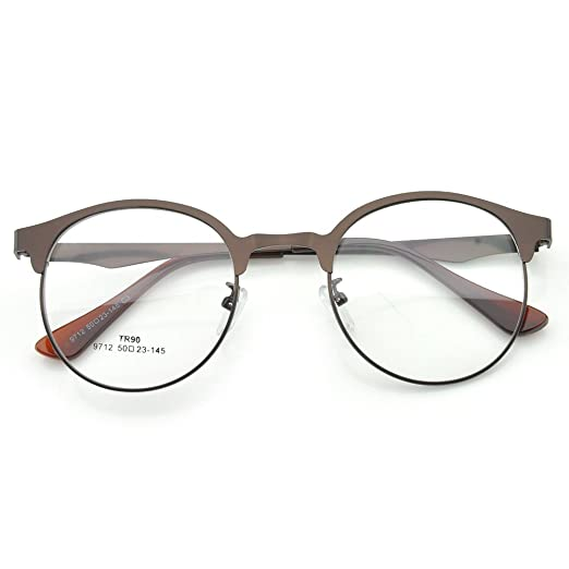 2a7c8c551b9 Image Unavailable. Image not available for. Color  PenSee Optical Large  Oversized Oval Round Light Metal Eye Glasses Frames