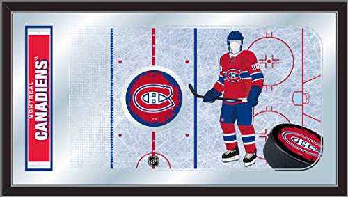 Holland Bar Stool Company NHL Montreal Canadiens 15x26-Inch Hockey Rink Mirror