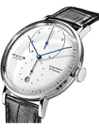 Automatic Watch Men's Classic Bauhaus Watch Analog Mechanical Watches Domed Mirror Stainless Steel Waterproof...