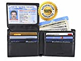 RFID BLOCKING GENUINE LEATHER WALLET, Mens Credit Card Identity Theft Protection