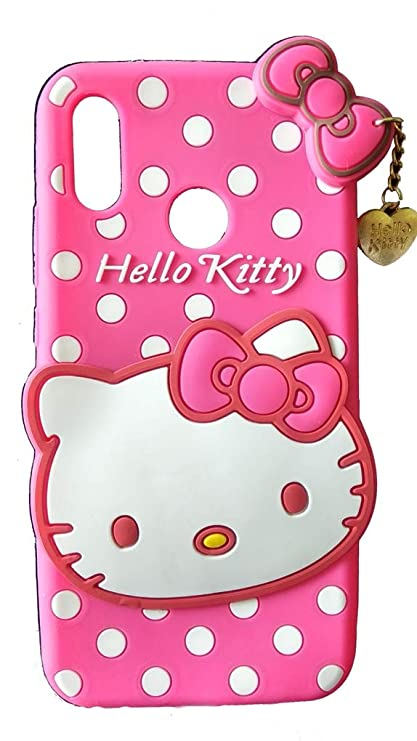 91bb59acd ANVIKA Honor P20 LITE Hello Kitty Cover Case Cute 3D Hello Kitty Cartoon  with Pendent -