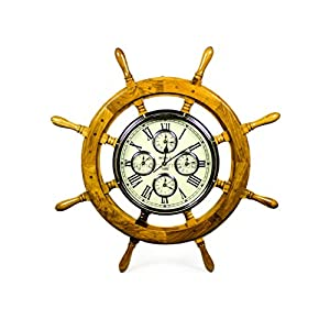 51T4icN-5BL._SS300_ Best Ship Wheel Clocks