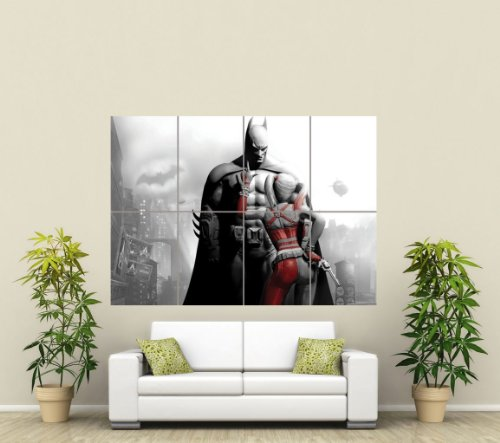 BATMAN AND HARLEY QUINN GIANT ART POSTER PICTURE PRINT ST563