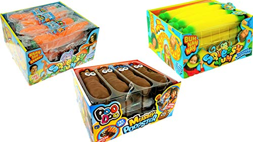JA-RU Stretchy Banana, Carrot and Poopster (36 Total in 3 Display Boxes) Plus Bouncy Ball Stretches Long, Soft, Delicious. 12x6448-3340-3342p by JA-RU (Image #1)