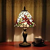 Tiffany 8-inch table lamp bedroom lamp bedside lamp Red Dragonfly