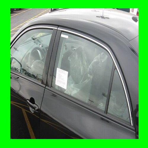 1993-1998 NISSAN SENTRA CHROME WINDOW TRIM MOLDINGS 2PC 1994 1995 1996 1997 93 94 95 96 97 98