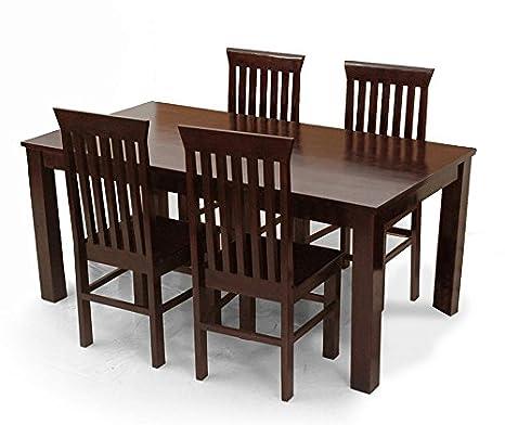 Timbercraft Indian Teak Wood Contemporary Dining Table Set Tdt 2401